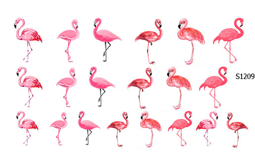 Слайдер дизайн фламинго розовый S1209