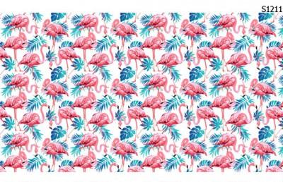 Слайдер дизайн фламинго тропический S1211