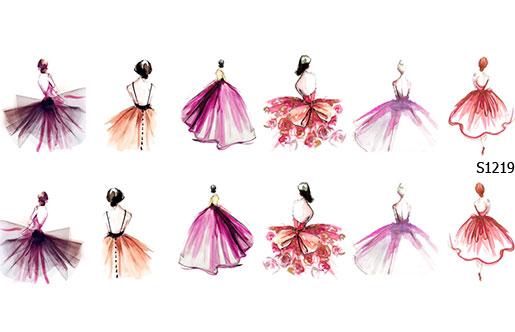 Слайдер дизайн платья спина S1219