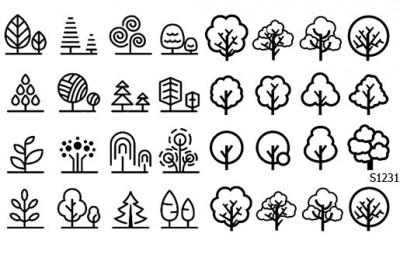 Слайдер дизайн деревья минимал S1231