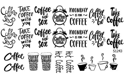 Слайдер дизайн надписи кофе S1243ё