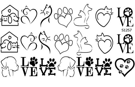 Слайдер дизайн любовь животные S1257