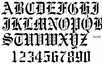 Слайдер дизайн буквы готика S1259