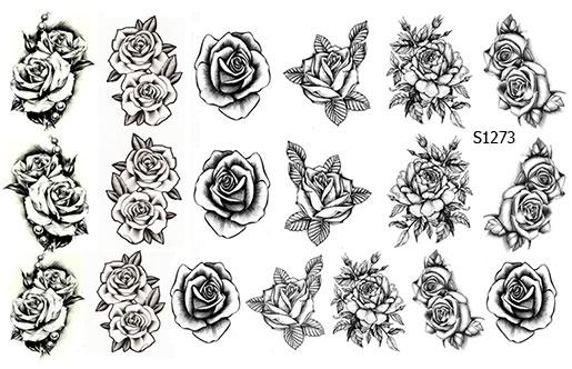 Слайдер дизайн цветы тату S1273