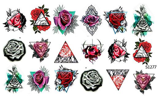 Слайдер дизайн тату розы S1277