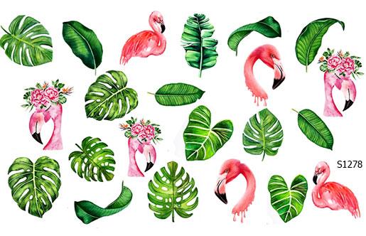 Слайдер дизайн пальмовые листья S1277