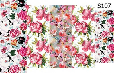 Слайд-дизайн цветы микс S107