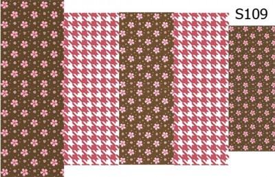 Слайд-дизайн гусиная лапка+цветы S109