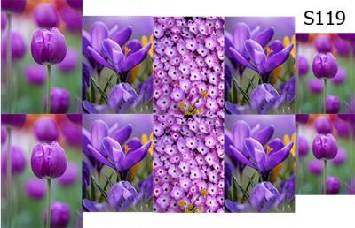 Слайд-дизайн цветы микс S119