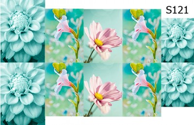 Слайд-дизайн цветы микс S121