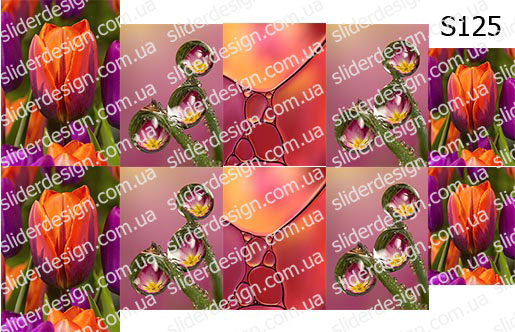 Слайд-дизайн цветы микс S125