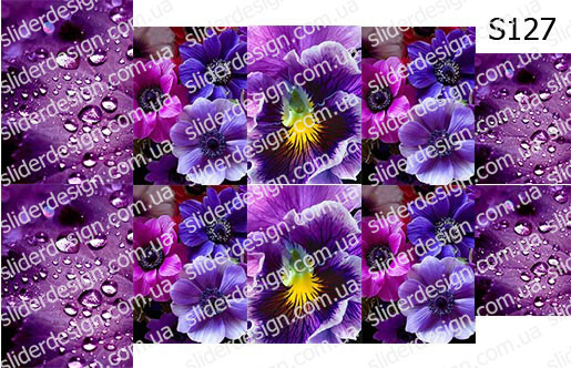 Слайд-дизайн цветы микс S127