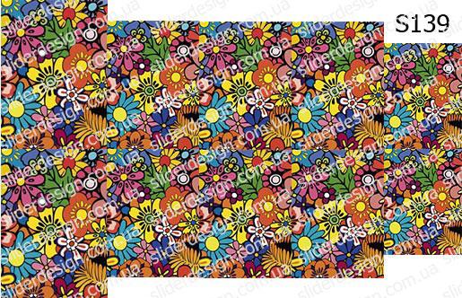 Слайд-дизайн цветы S139