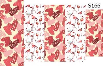 Слайд-дизайн сердце+фламинго S166