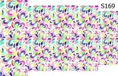 Слайд-дизайн цветочный принт S169