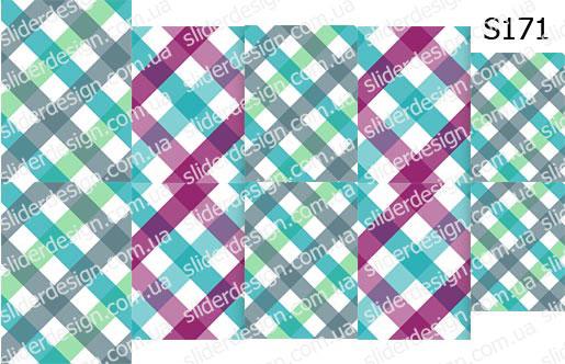 Слайд-дизайн клетка скатерть S171