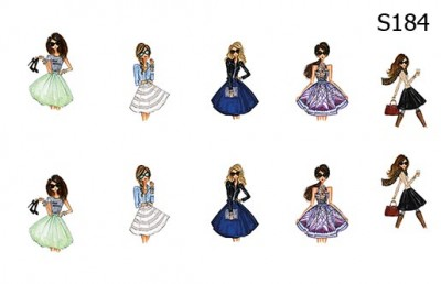 Слайд-дизайн фешн девушки S184