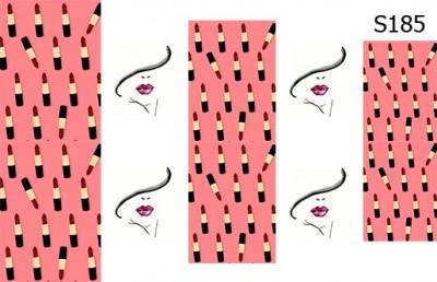 Слайд-дизайн помада+губы S185