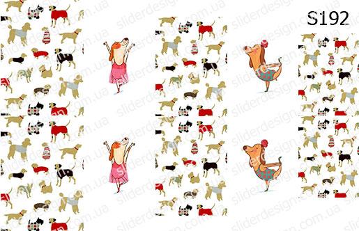 Слайд-дизайн собачки микс S192