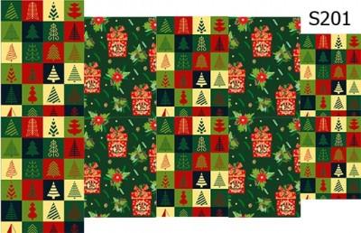 Слайд-дизайн новогодние подарки+елки S201