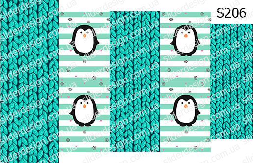 Слайд-дизайн пингвинчик+свитер S206