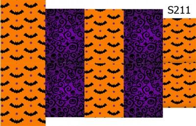 Слайдер дизайн на Хеллоуин летучие мыши