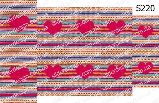 Слайдер дизайн свитер на ногтях S220