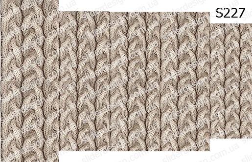 Слайдер дизайн вязаный свитер на ногтях S227