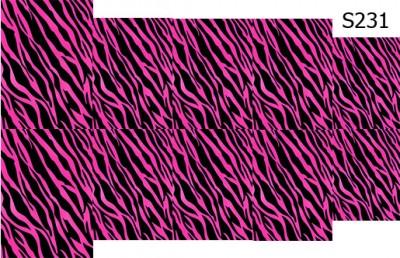 Слайдер дизайн леопард малиновый S231