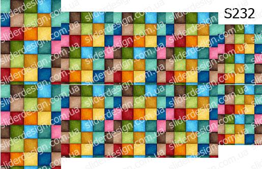 Слайдер дизайн клетка квадратики S232
