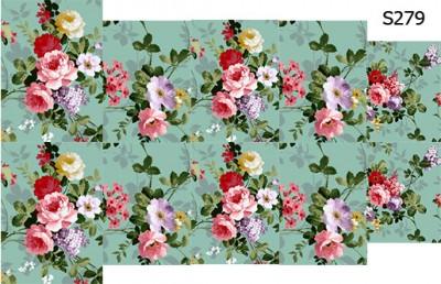 Слайдер дизайн цветы винтаж S279