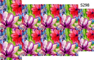 Слайдер дизайн цветы акварель S298