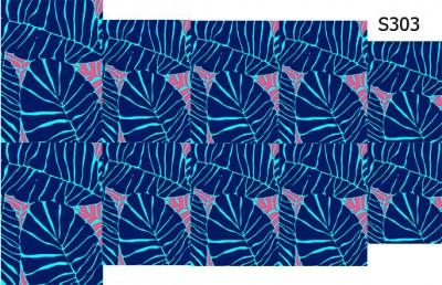 Слайдер дизайн яркие листья S303