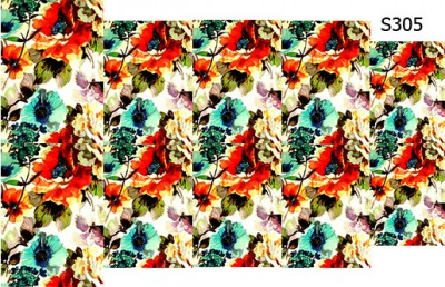 Слайдер дизайн цветы большие S305