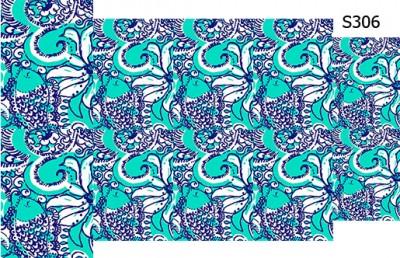 Слайдер дизайн цветы рыбы абстракция S306