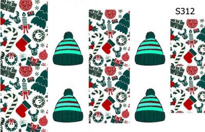 Слайдер дизайн новогодняя вязаная шапка S312