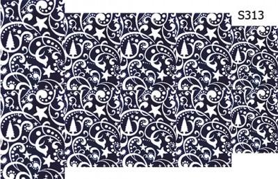Слайдер дизайн новогодний синий узор S313