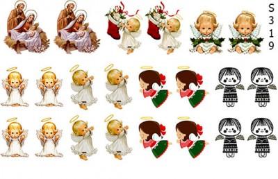 Слайдер дизайн ангелы на Рождество S319