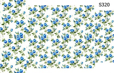 Слайдер дизайн винтажные голубые розы S320