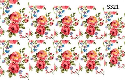 Слайдер дизайн винтажные розы на ноготь S321