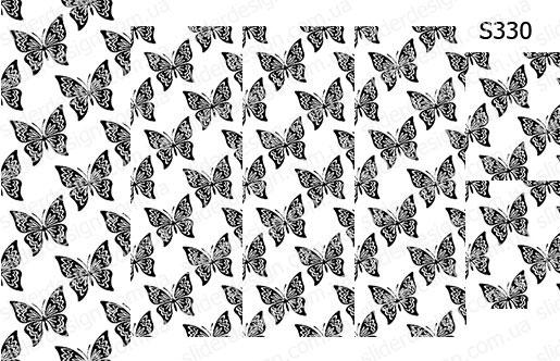 Слайдер дизайн бабочки чб S330