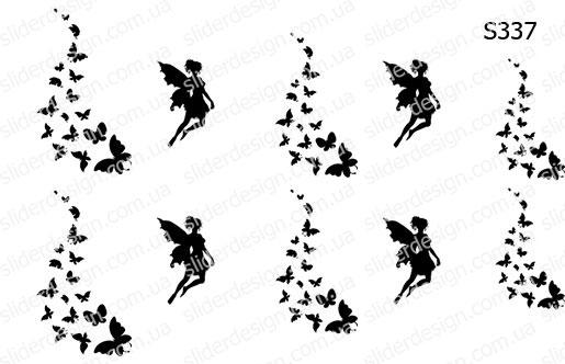 Слайдер дизайн фея бабочки S337