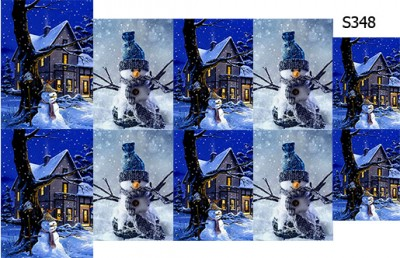 Слайдер дизайн снеговик картина S348