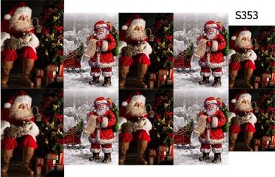 Слайдер дизайн Дед Мороз Санта S353