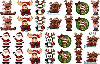 Слайдер дизайн Дед Мороз и олени сет S355