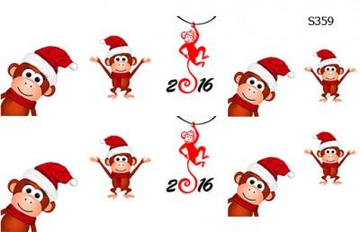 Слайдер дизайн Новый год обезьяны S359