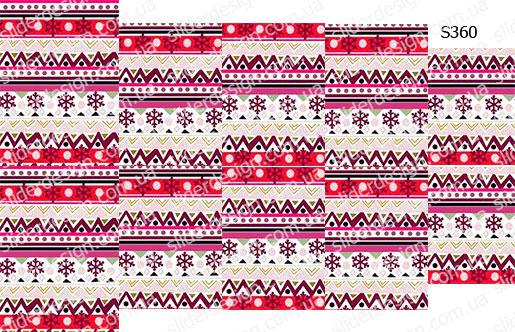 Слайдер дизайн розовый узор для свитера S360