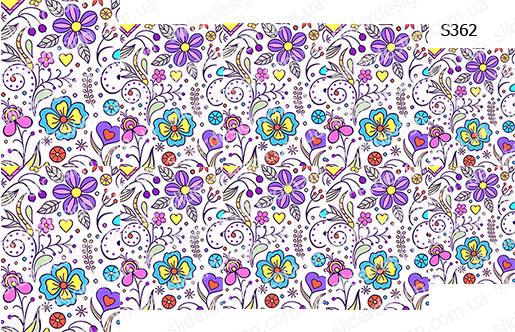 Слайдер дизайн фиолетовые цветы S362