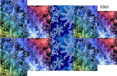 Слайдер дизайн волшебные снежинки S363