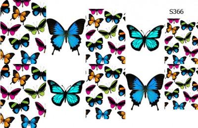 Слайдер дизайн большие бабочки S366